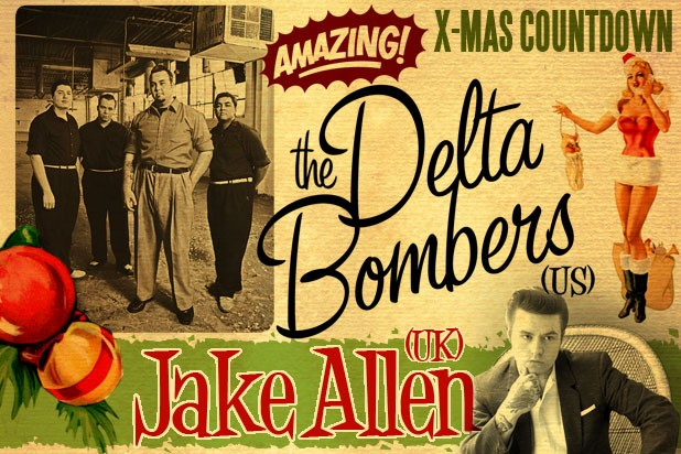 Rocketroom Christmas Countdown #36 Delta Bombers (US) + Jake Allen (UK) + Mike Barbwire & The Blue Ocean Six